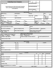solicitud de empleo