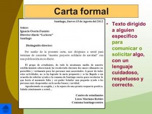 Ejemplos de cartas formales