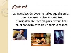 Ejemplos de investigacion documental