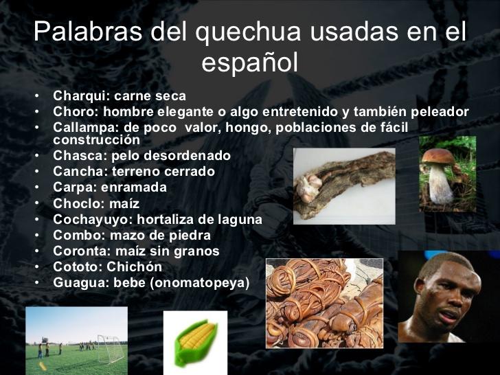 Ejemplos de quechuismos