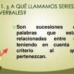 Ejemplos de series verbales