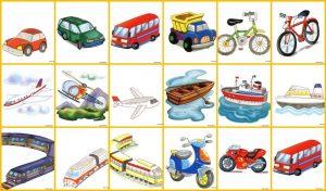 ejemplos de medios de transporte