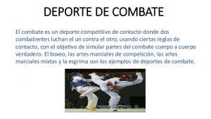 ejemplos de deportes de contacto