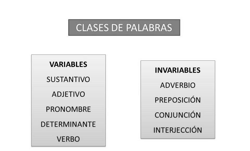 Ejemplos De Palabras Variables E Invariables