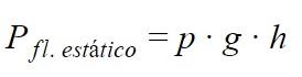 Fórmula presión hidrostática